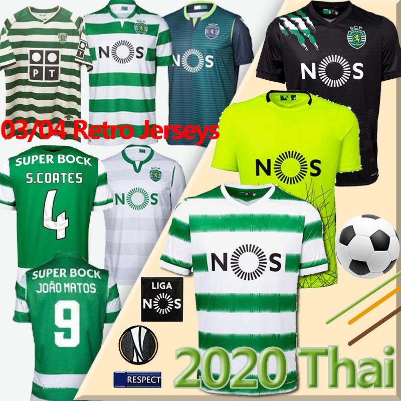 20 21 Sporting Clube de Sporting CP Lissabon Fußball Trikots # 28 C.RONALDO PHELLYPE 2019 2020 B.FERNANDES Futebol Retro Jerseys LISBOA DOST