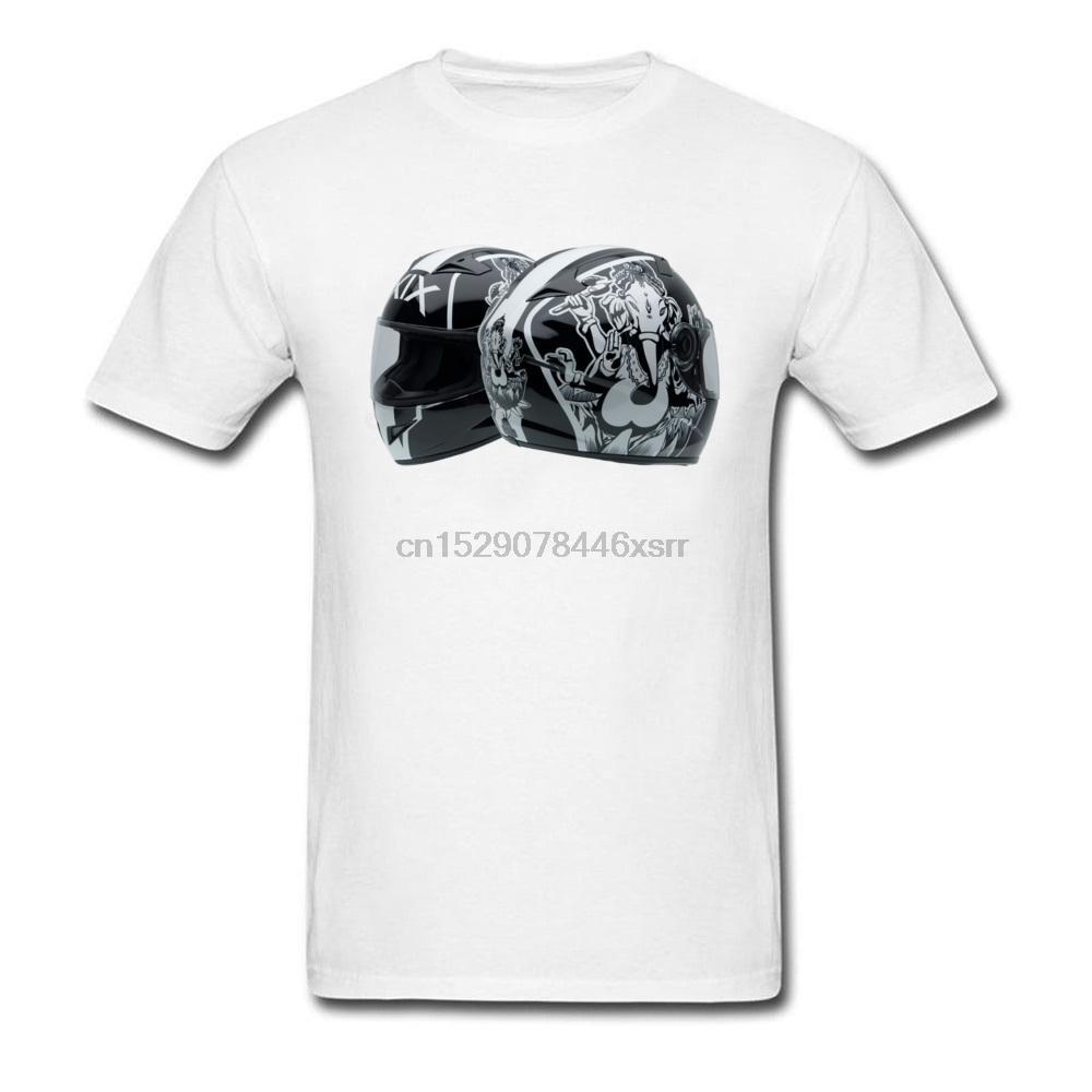 Gutscheine T-Shirt Männer Motor Gp-Spiel-T-Shirt aus 100% Bio-Baumwolle Small Size L Weinlese-Motorrad-Sturzhelm T Shirts Kühlen Tees Marke