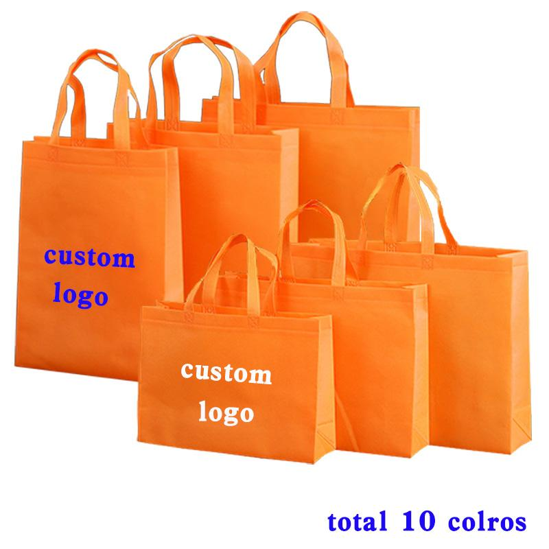 11 colors handbag shopping bag promotional gift case recycled retail packaging bag custom non woven tote bag Customized Logo