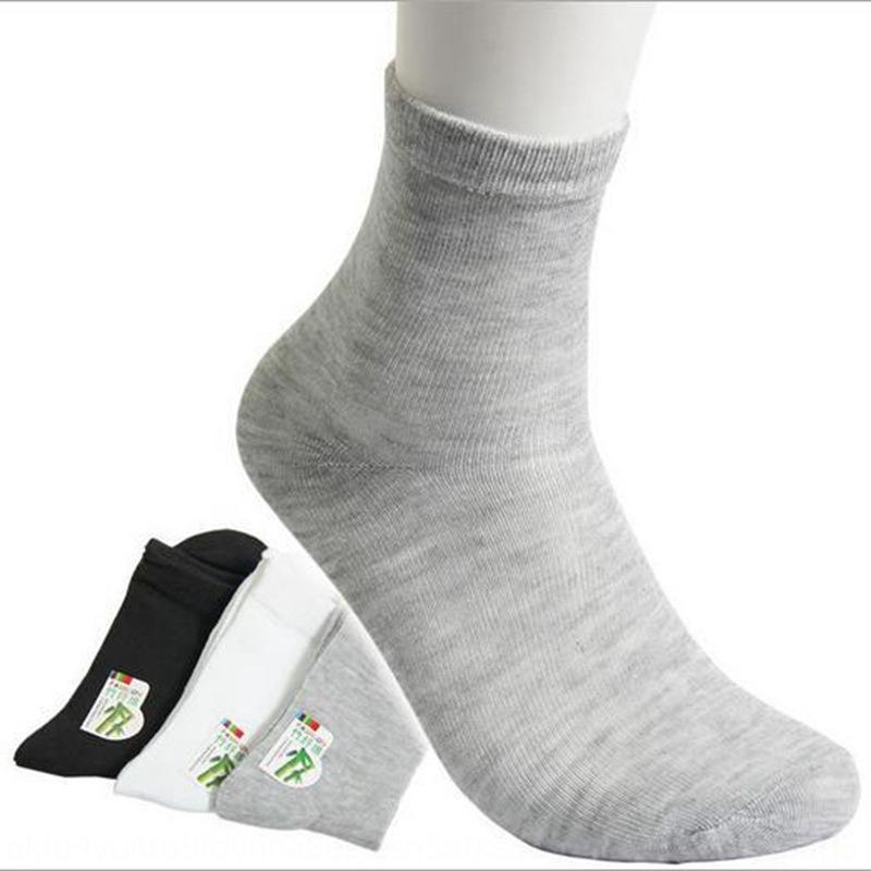 5b8WD Sommermänner Strümpfe atmungsaktiv Strümpfe Bambusholzfaser Baumwolle Socken beiläufigen Männer Baumwolle dünne Socken zur Mitte der Wade