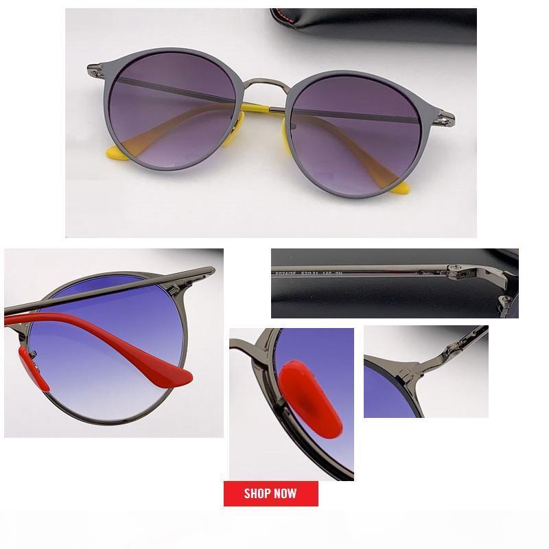 2019 neue heißen Verkauf runde Metallrahmen Qualität Alloy Männer Sonnenbrille oben Brand Design Kreis Männlich UVschutzsun Brille Fahren gespiegelt