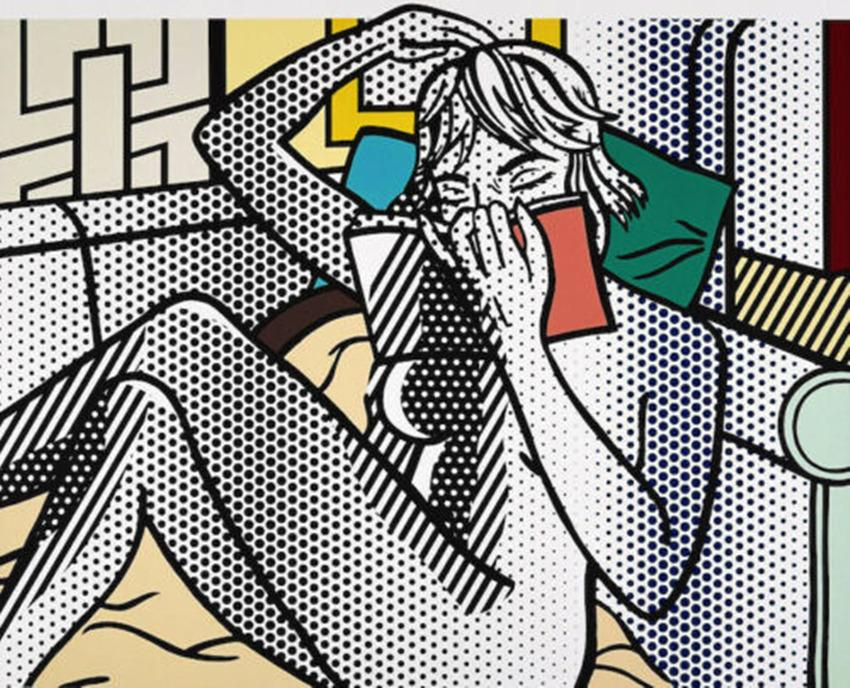 Roy Lichtenstein Pop art Nude Reading Home Decor Handcrafts /HD Print Oil Painting On Canvas Wall Art Canvas Pictures 2028