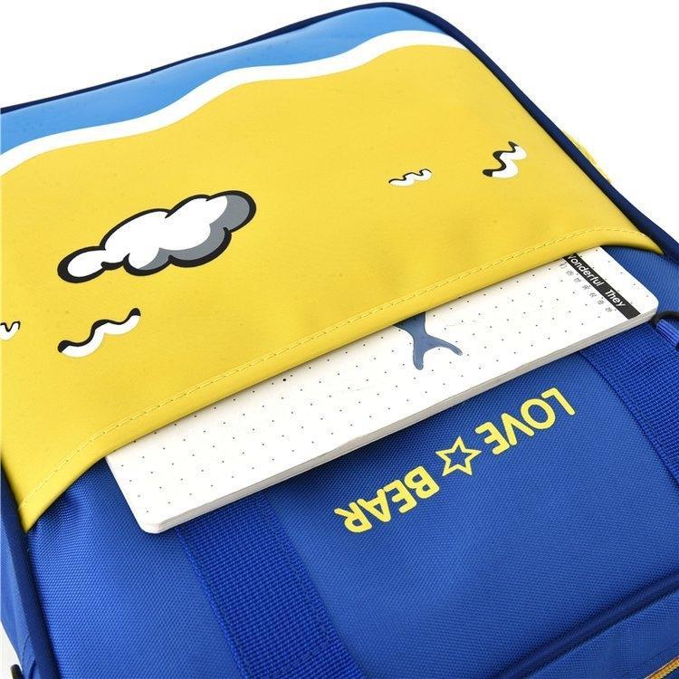 YBfiX Нового рюкзака в корейском стиле детского печататься процессуальной мешок учебного класса портативной процессуальной мешок начальной школа студенты бремени Редуцина