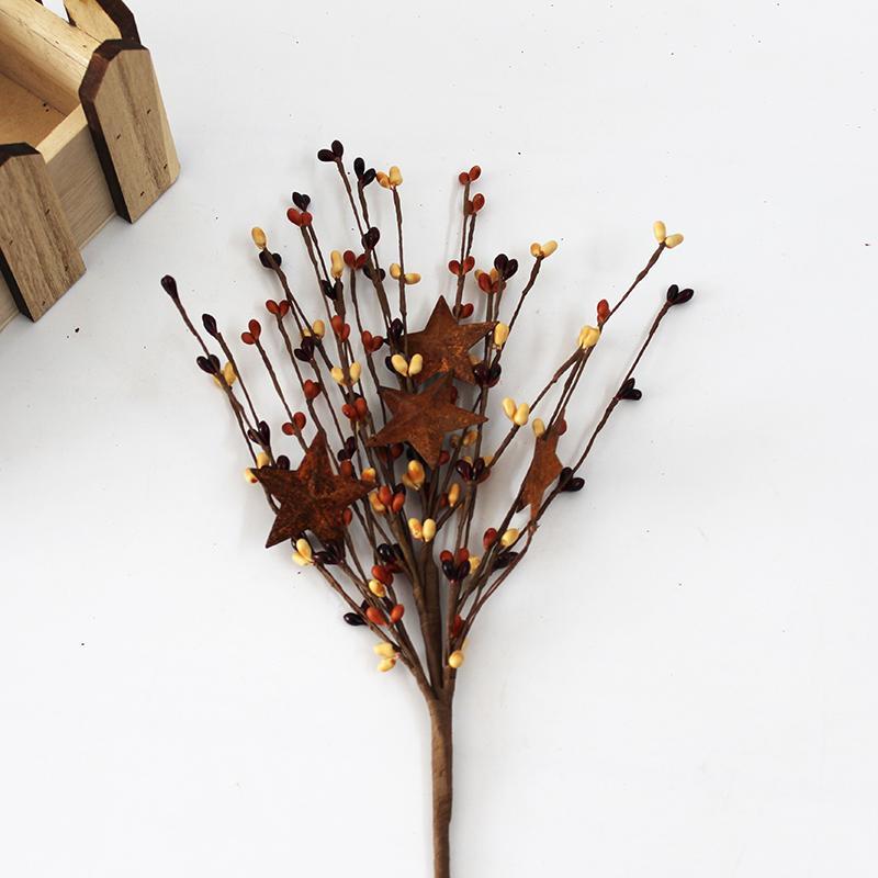 3pcs / lot Artificial Berry ramo da flor do buquê floral Fontes do partido de casamento Decoração Flowers Decor Home for Christmas Indoor