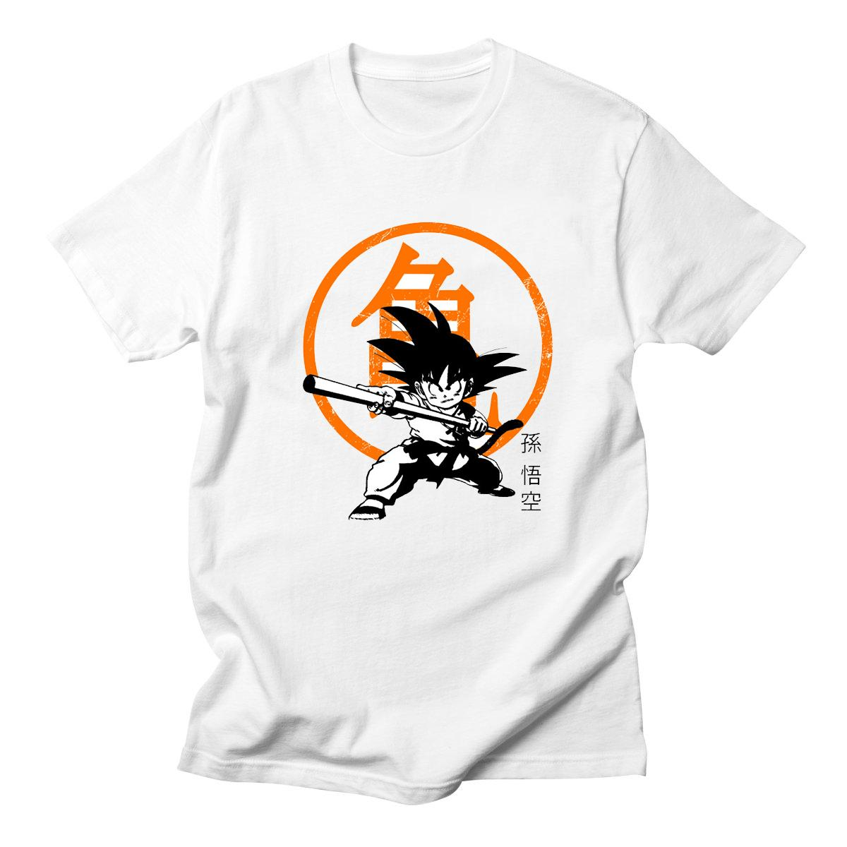 Yeni Dragon Ball Tişörtlü Super Saiyan Dragonball Z Dbz Son Goku Tişört Japonya Soğuk Vegeta Anime Tişört Erkek / Boy Tee Tops