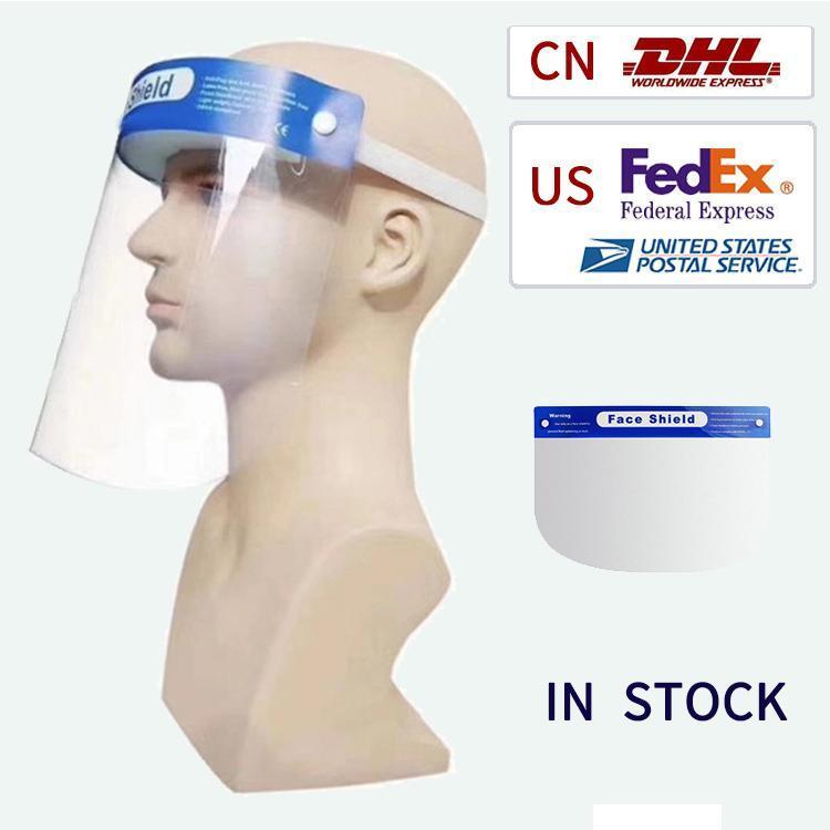 ¡En stock! Nave rápida del 3 ~ 7 días careta, PET transparente de doble cara anti-niebla, el aislamiento de cara completa, evitar las salpicaduras de agua, spray
