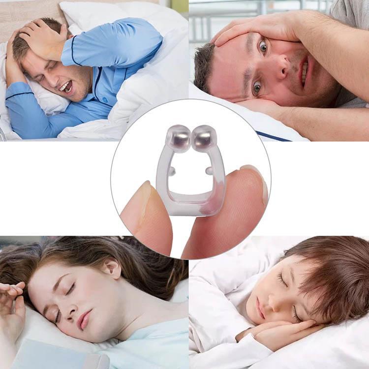 Здравоохранение Силиконового Магнитного Анти храп Стоп Храп зажим для носа сна Tray Спящего Помощи Апноэ Guard Night устройство с Case YDL059