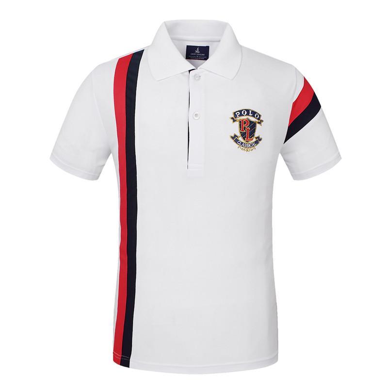 Camisa de los hombres de golf camiseta de secado rápido desgaste de los hombres de manga corta de algodón de entrenamiento TopsTees Ejercicio jerseys senderismo camisas