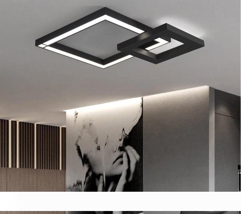 Внутреннее освещение современный потолочный светильник столовая Светодиодная лампа лампы барные спальни Гостиная люстра RGB цвет черный белый LLFA