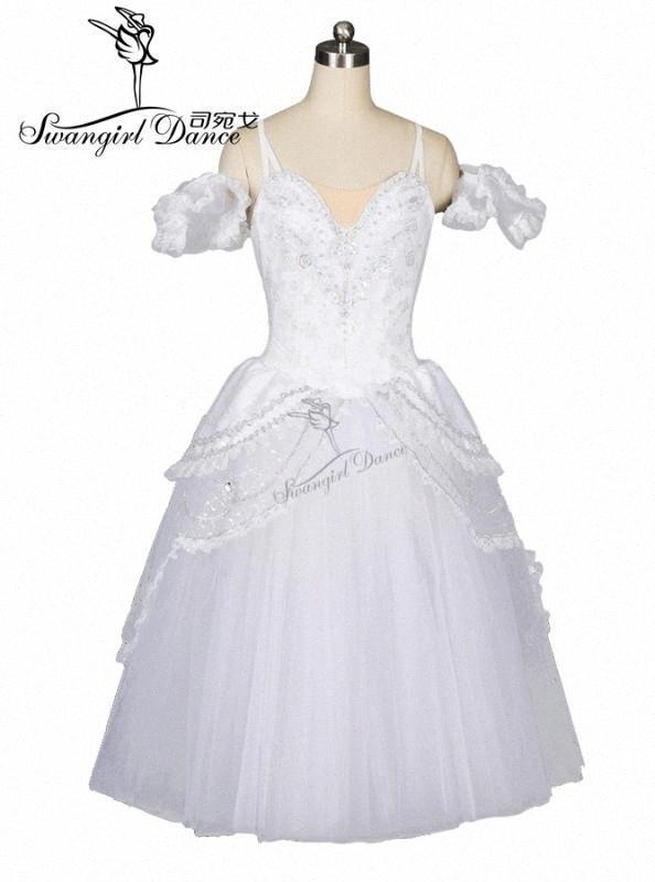 weiße Schwan See romantisches Ballett-Tutu Kleid Mädchen Giselle Ballerinakleid Frauen Gold-Ballett-Kostüm für Erwachsene BT8902 BN0V #