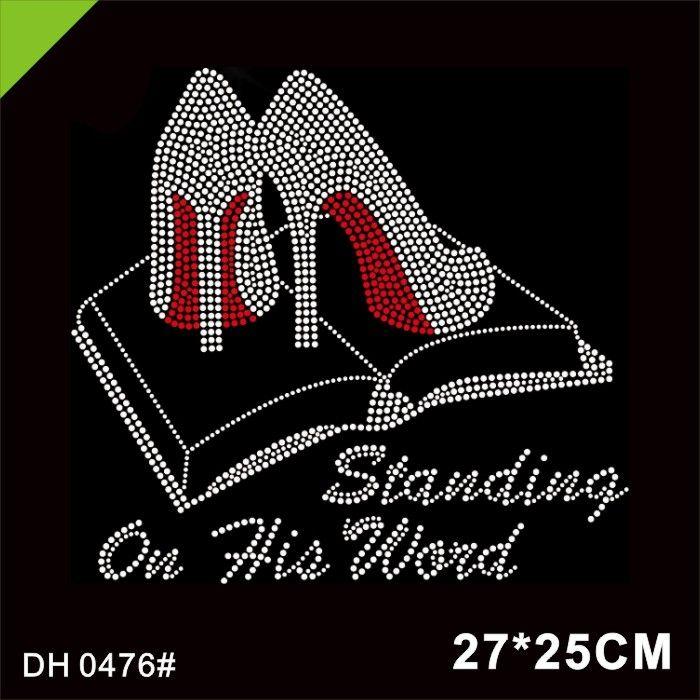 Motif DH0476 # Onun Kelime topuk Kutsal İncil Düzeltme Rhinestone ısı Transferi demir Standing ücretsiz teslimat