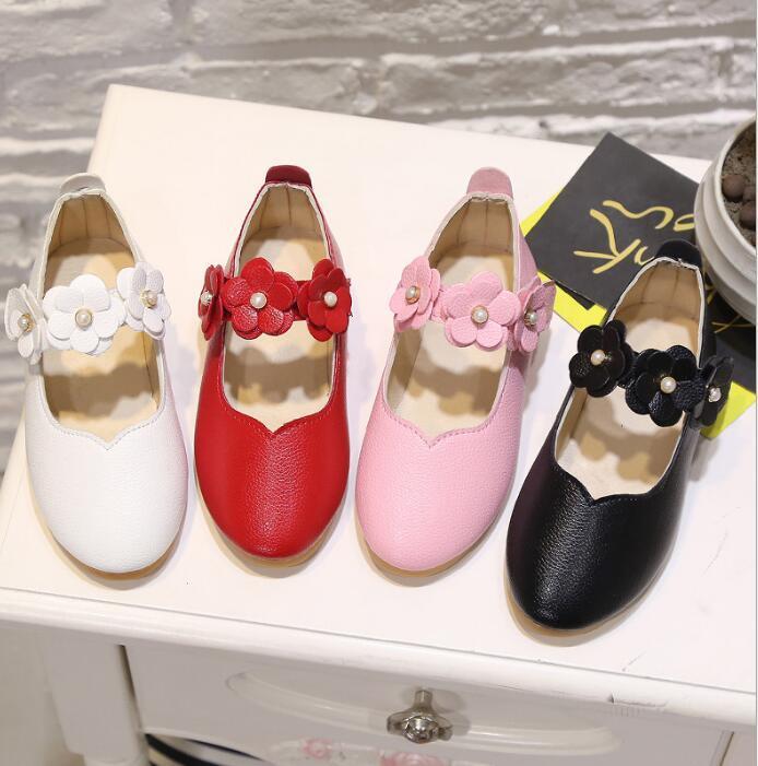 2020 meninas novas sapatos único sapatos de couro flor princesa Zhongda sapatos de ervilha das crianças das crianças não estão fora de estoque durante todo o ano