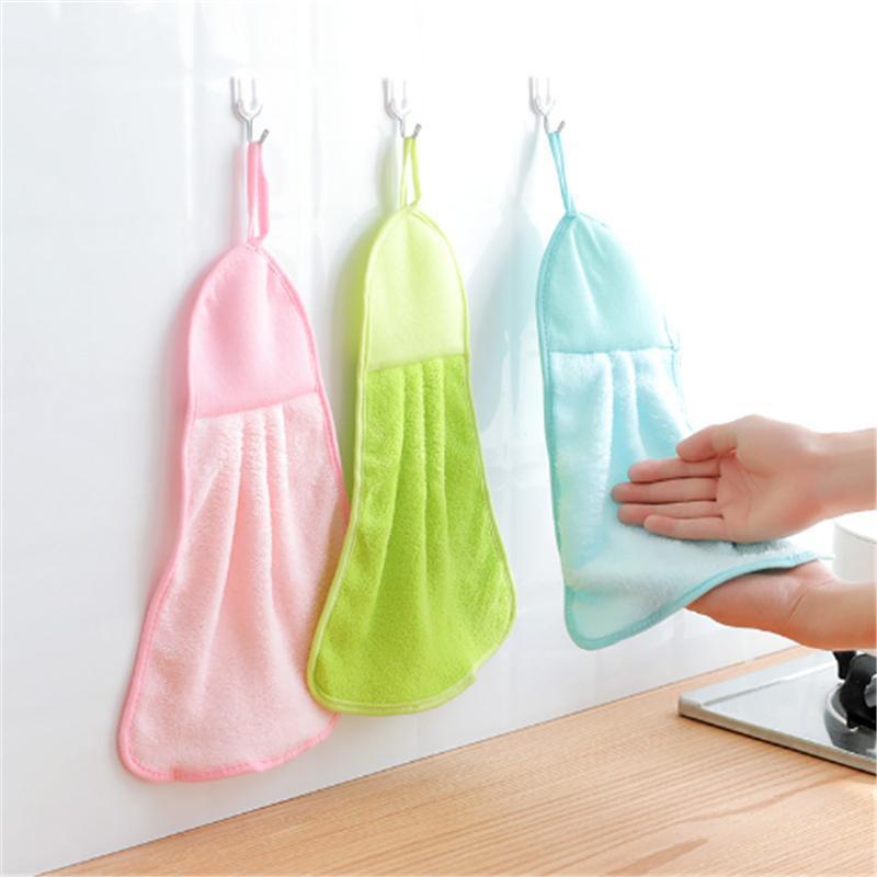 cuisine bébé serviette maternelle bébé serviette de bain de peluche douce couleur unie glace enfants serviette de bain suspendu mouchoir salle de bain