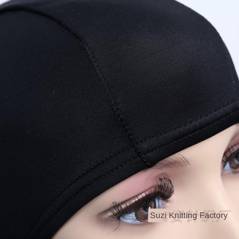 Нейлон чистого черное взрослой шапочки для плавания унисекс горячих источников плавание фуражка