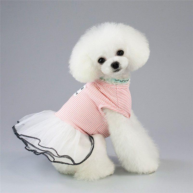 الكلب الملابس الصيف الكلب فساتين كلب جرو الملابس فساتين الربيع تيدي تشيهواهوا تنفس تنورة تنفس السفينة