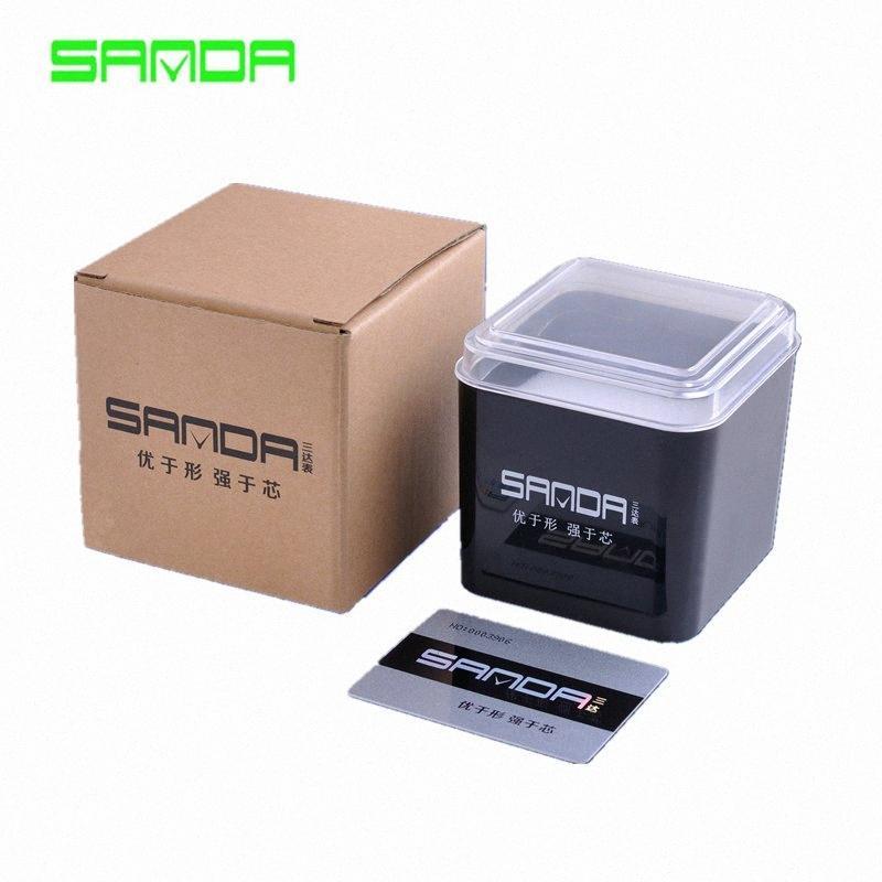 2017 Zeitlich begrenzter Platz Sanda Top-Qualität Mode-Papiere Kunststoff-Luxus-Box Geschenk-Boxen-Papier-Uhr Verpackung Valia Wrist l1WD #
