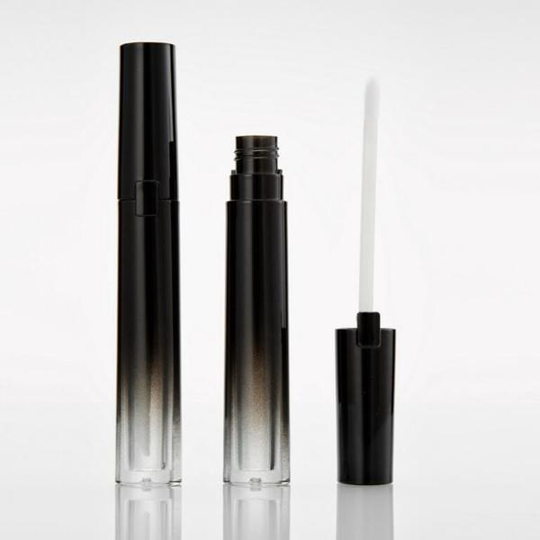 5g Gradient Black Empty Lipgloss Tube Top Quality DIY Slim Lipstick Lip Balm Gloss Bottle Packing Containers