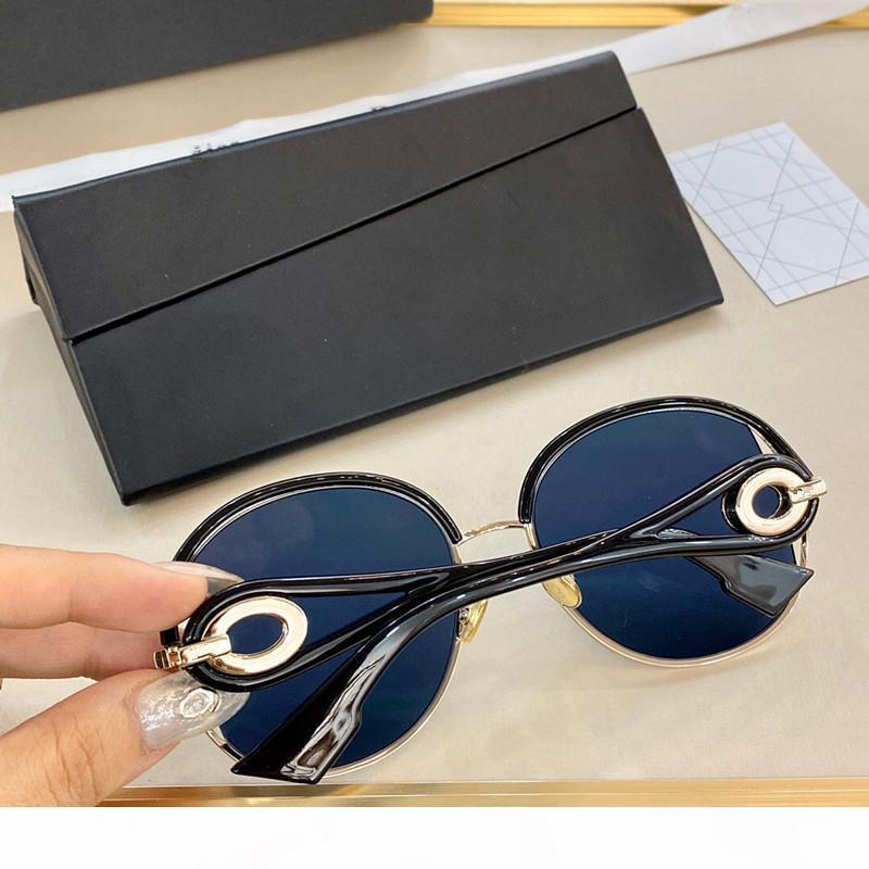 YENİ Volute Moda Satış Güneş Tasarımcı Yuvarlak Plaka Metal Kombinasyon Basit, zarif Yaz Stili Gözlük UV400 Koruma Glasses