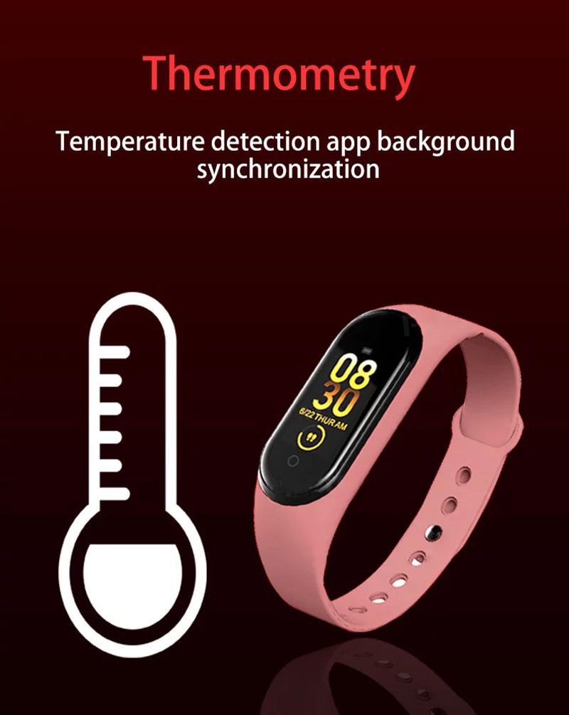 New Electronic Product Sports Watch M4 Pro relógio inteligente temperatura corporal Academia Banda inteligente Pulseira Pulseira Pulseira Silicone