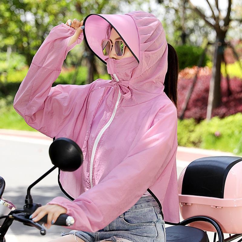 cubre la cara de verano protector solar montar eléctrica W3VCb motocicleta delgada Mantón de la motocicleta de la batería del coche chal UV a prueba de mujeres ropa de sunsc gspf6