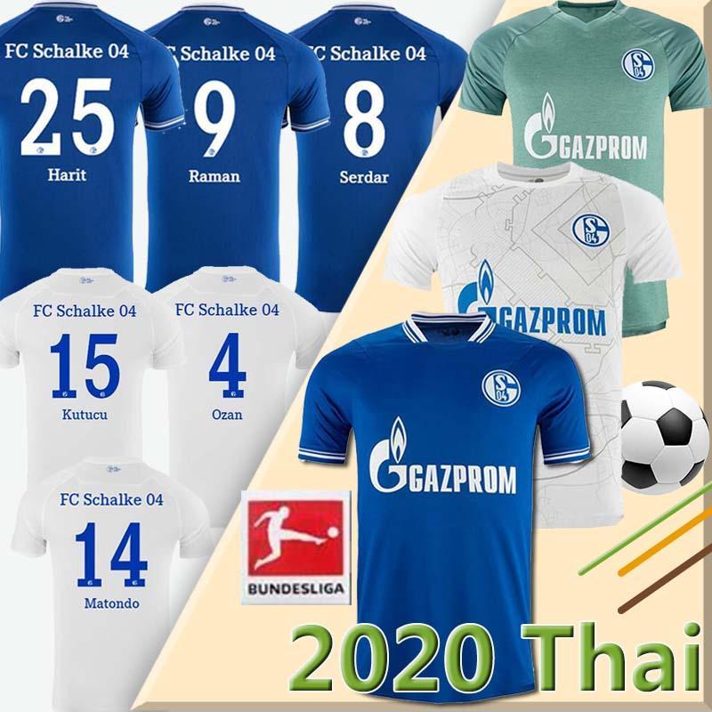 20 21 FC Schalke 04 كرة القدم جيرسي Bentaleb 2020 2021 Schalke Caligiuri كرة القدم قميص Kutucu Burgstaller McKennie Fußball-Trikot