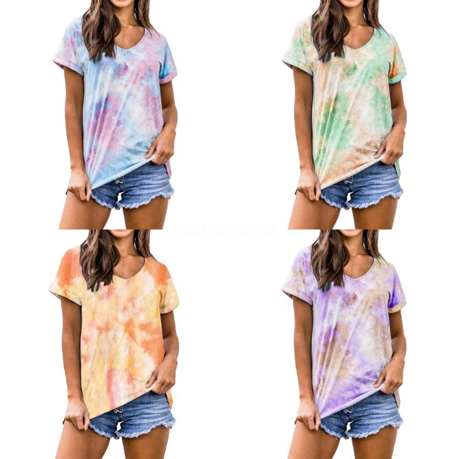 2020 Plus Size 5XL Automne T-shirt sexy encolure en V lacent rosée épaule T-shirt décontracté Femme mince à manches longues T-shirts Tops # 390