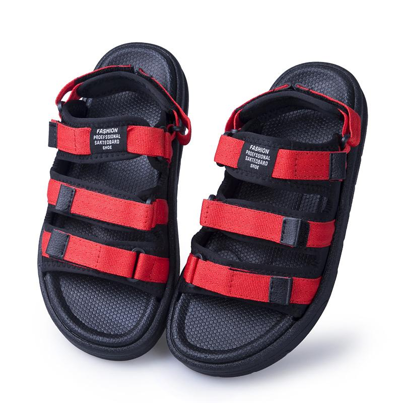 de deri taban yaz oyuk sandale elbise sandalhas nefes ler su büyük hakiki masculina sandalias kayışı gladyatör homme