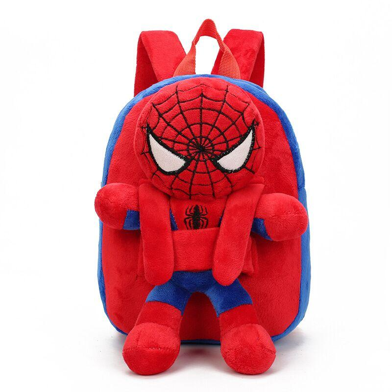 3D Cartoon Mini Plush Spiderman Children Backpacks Schoolbag Kindergarten School Bags For Girls Boys Mochila Escolar