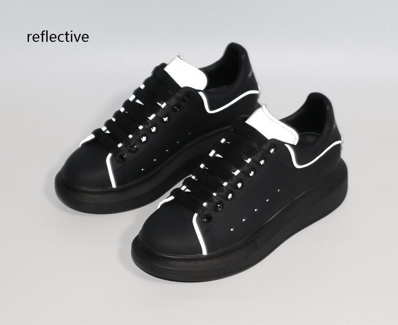 modelos de grife homens mulheresde moda em couro alexander mcqueens sapatos ícone aumento plataforma casuais mens chaussures sneakers 932B #