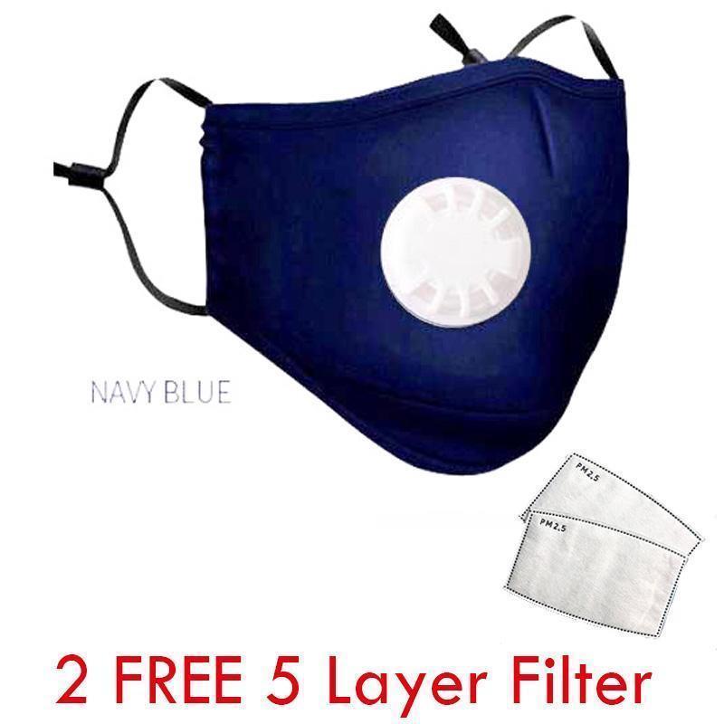 Hombres Mujeres Niños cara máscara máscaras lavable 6 reutilizable Color paño de algodón cara reemplazable Fil 2VRQ