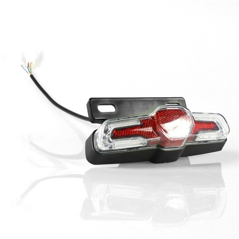 36В 48В Электрический велосипед Taillight Ebike Taillight LED Сигнальная лампа ebilke мотора безопасности Night Ebike аксессуары