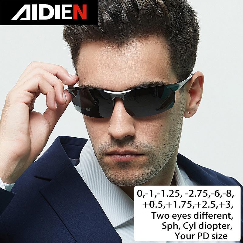 La myopie lunettes de soleil dioptrie SPH -1 -1,5 -2 -0,5 -2,5 -3,5 -3 -4 -5 -4,5 -5,5 -6,0 hommes CYL en voiture polorized lunettes de soleil sur ordonnance