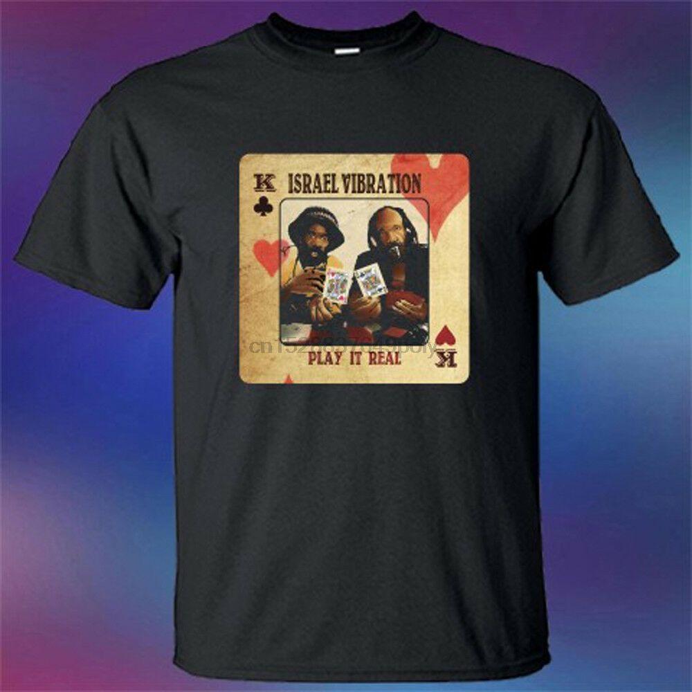 İsrail Titreşim Çal Real Reggae Duo Grubu Erkek Siyah Tişörtlü Boyut S 3XL