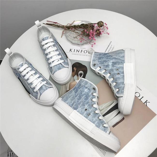 2020 piattaforma di epoca nuovi fiori Tela tecnico B23 High Top Sneakers in bassa Oblique Mens B24 Moda Donna Stivali Casual Shoes