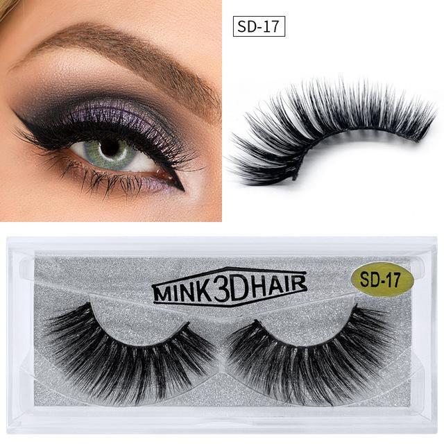 3D Vison Cils maquillage pour les yeux Mink Faux cils Faux cils épais et doux naturel Cils 3D Extension beauté Outils 20 styles DHL gratuit