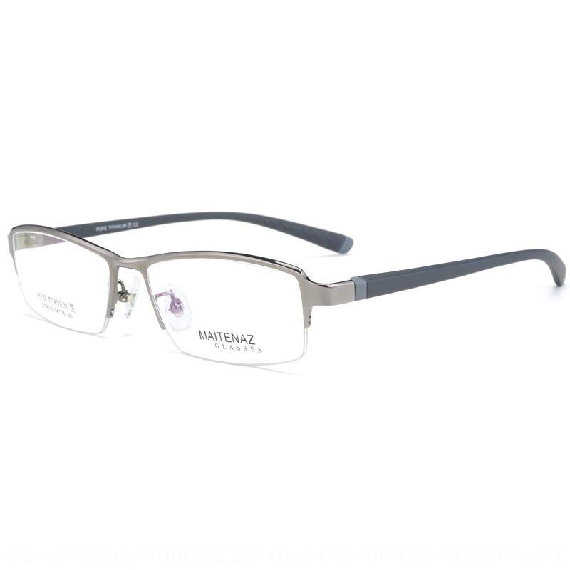 negocio puro marco de la miopía de los vidrios Glassestitanium medio cuadro negro de la miopía de los hombres clásicos Bangwei gafas DTR035