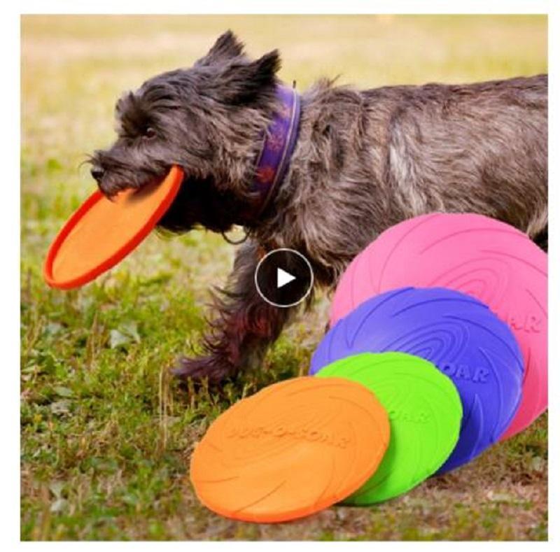 1pcs drôle silicone soucoupe volante Chien Chat Jouet Chien jeu volant disques Chew résistant chiot formation produits pour les chiens Interactive
