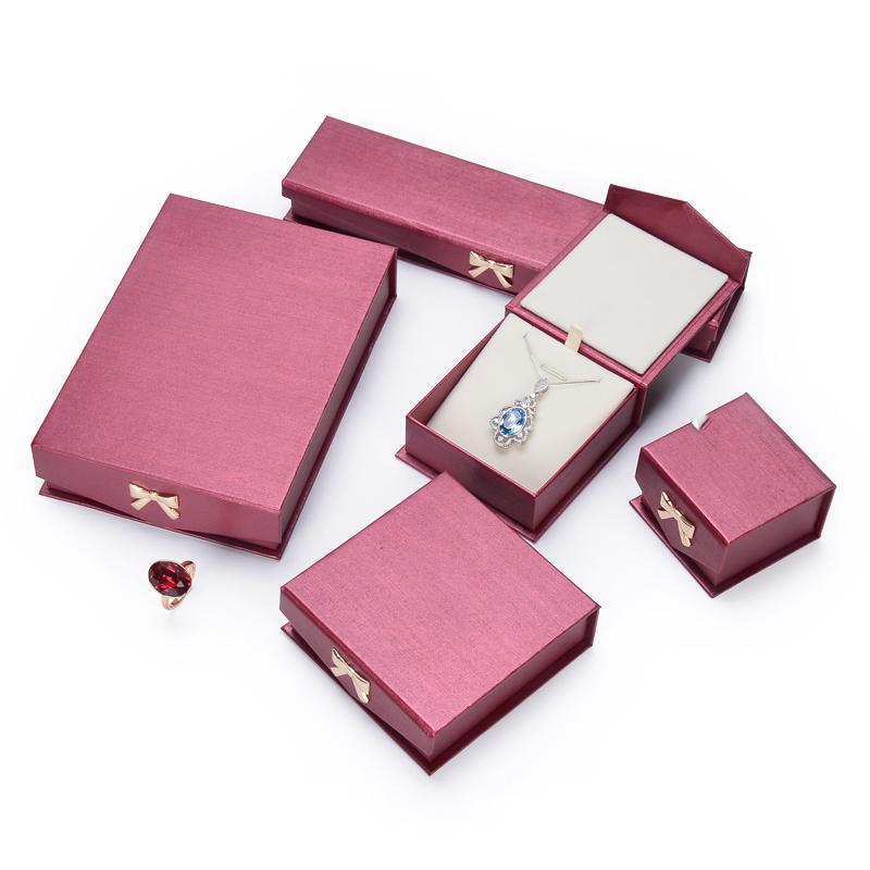 شعار مخصص الراقية التعبئة والتغليف والمجوهرات مربع أحمر، هدية مربع مجموعة للمجوهرات