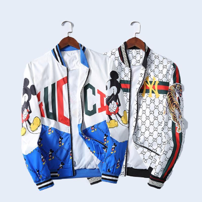 2020 الموضة في أوروبا رجل المصممين الستر الملابس طباعة بريد إلكتروني الفاخرة مقنع المرأة طويلة الأكمام قمصان الرجال النساء سترة