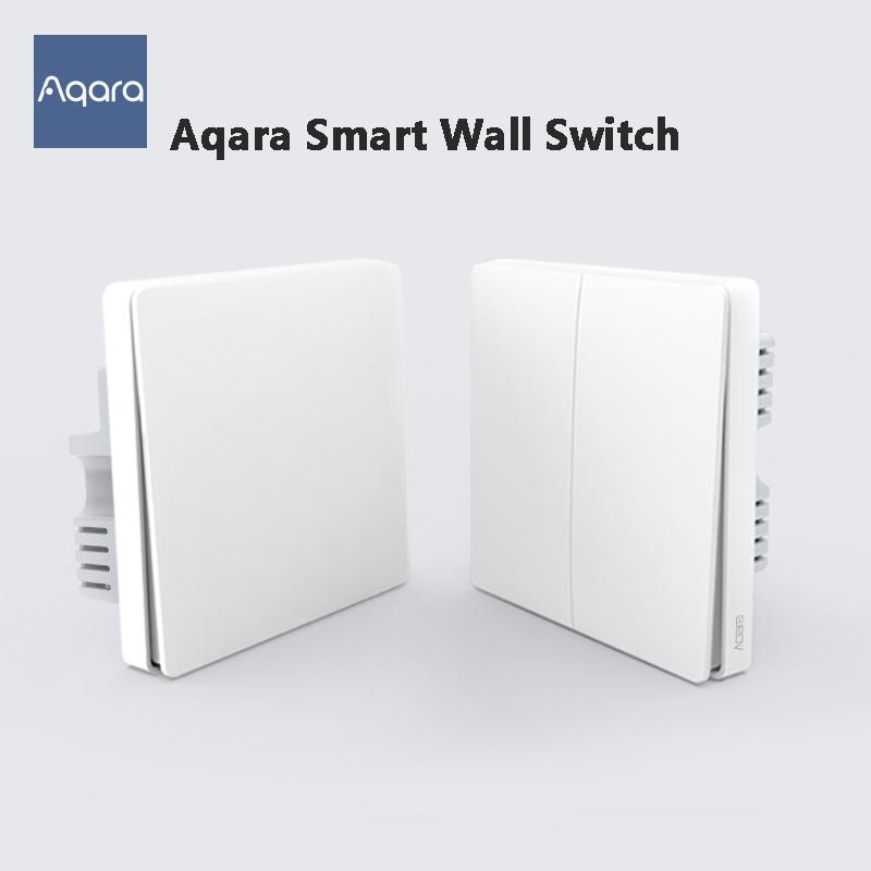 Youpin Original Aqara Smart Wall Switch ZigBee Light Wall Switches No Neutral Fire Wire Light Remote Control Wireless Key Relay 3002250