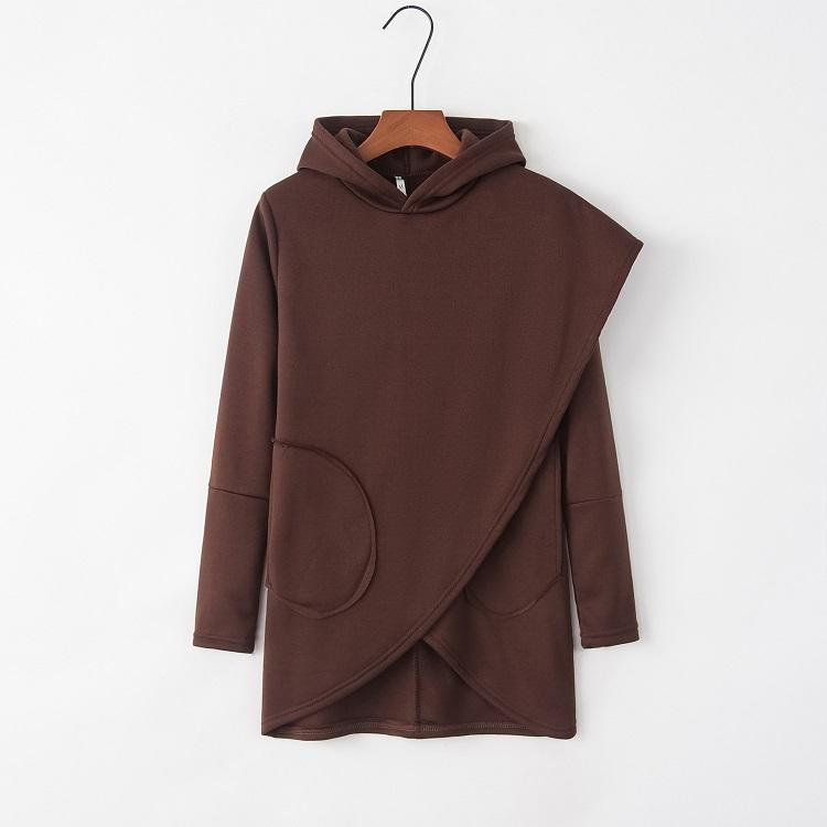 Le donne con cappuccio Felpe autunno inverno più il formato slaccia manica lunga tasca Pullover con cappuccio femminile caldo casuale all'ingrosso per unisex