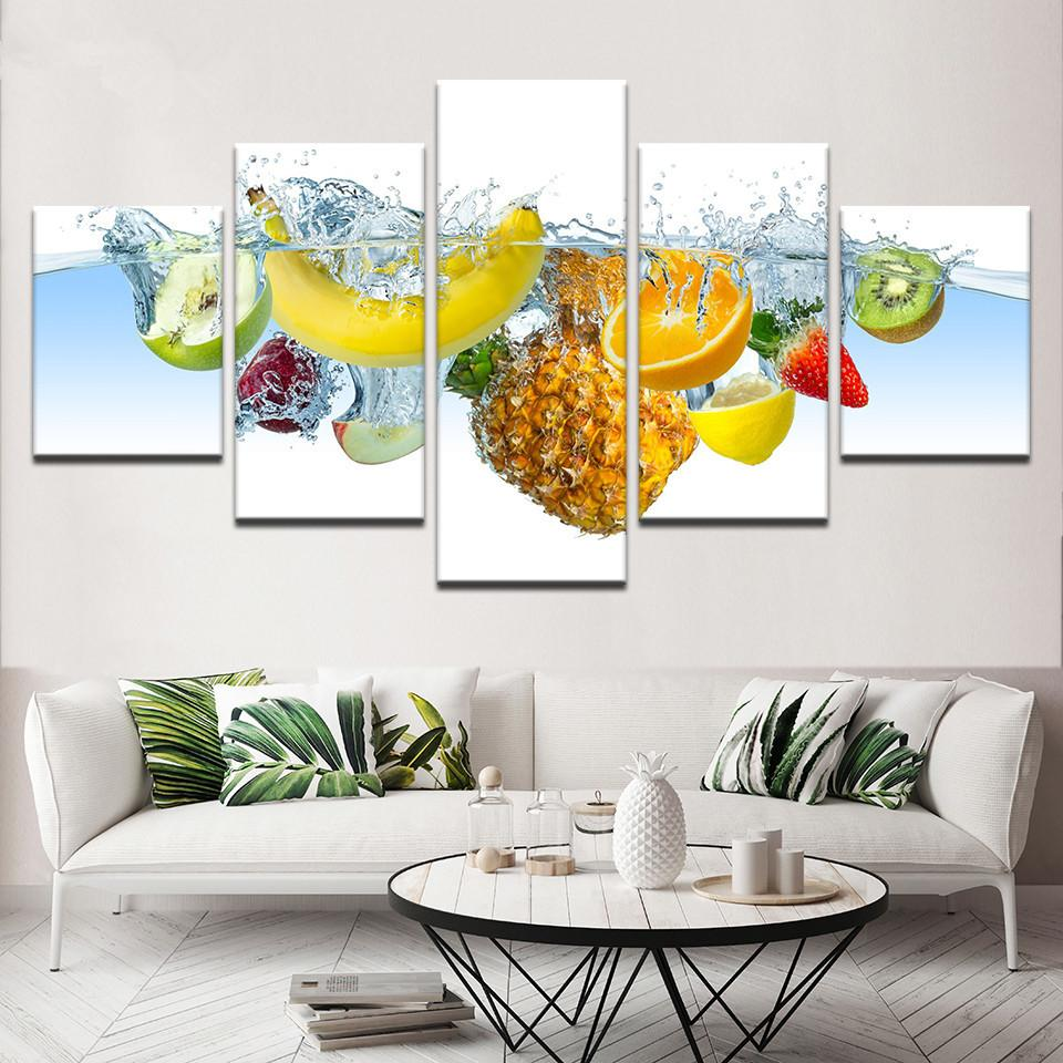 Modular Pictures Paintings Poster For Kitchen Modern Canvas Painting Posters