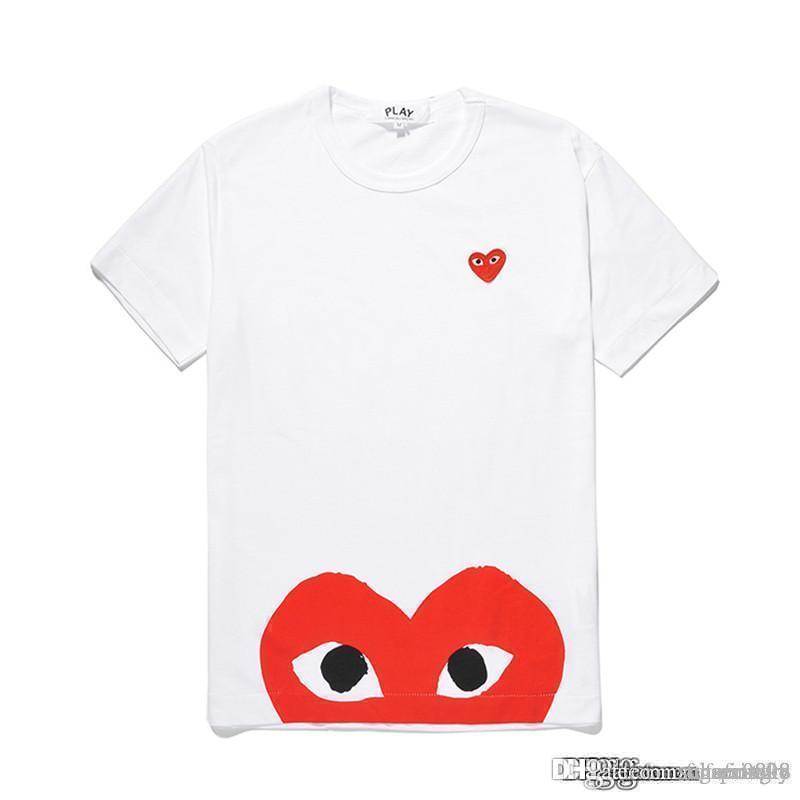 Nouveau style COM meilleure qualité Hommes Femmes Comme des Garçons poignée totale T-shirt blanc Taille M décision rapide F / S