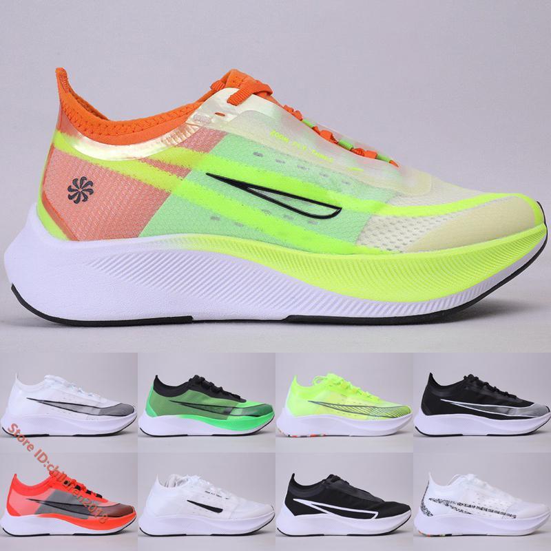 Zoom Fly 3 maratona sapatos para homens mulheres Formadores 2019 Designer alta qualidade luminosa verde da estrela do mar da Universidade de esportes vermelho Sneakers