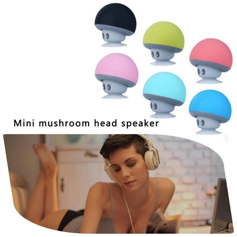 Mini sem fio Speaker Mushroom Waterproof Duche som do carro Subwoofer Music Player para o Android portátil