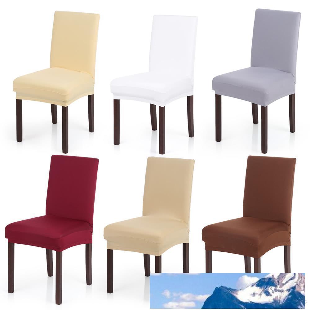 Spandex de la silla del estiramiento cubre la cubierta del asiento elástico seda de la leche Silla suave lavable Para Comer Partido banquetes sala de bodas del hotel