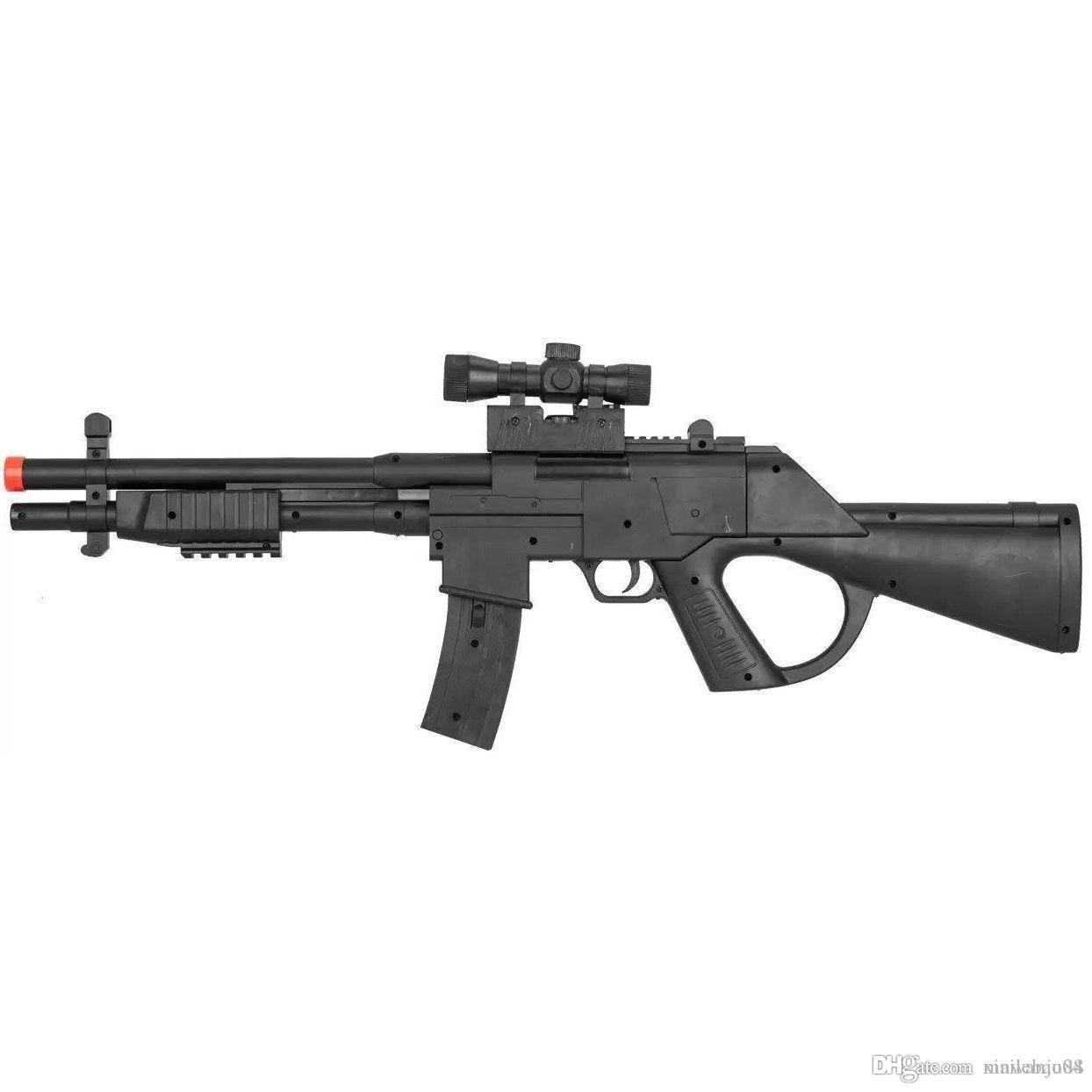 새로운 2020 PUMP ACTION TACTICAL 최대 날짜 SHOTGUN AIRSOFT SPRING RIFLE GUN w / 레이저 범위 2020 BB