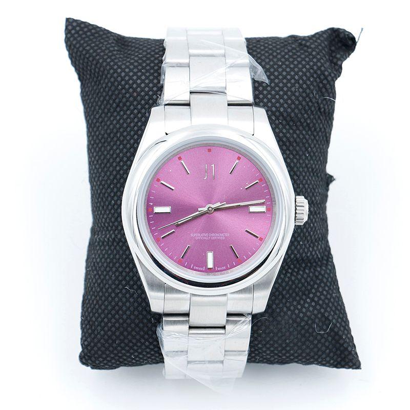 Высокое качество Limited 39MM Perpetual 116000 Часы из нержавеющей стали с красным виноградом циферблатом Часы Автоматические механические Наручные часы