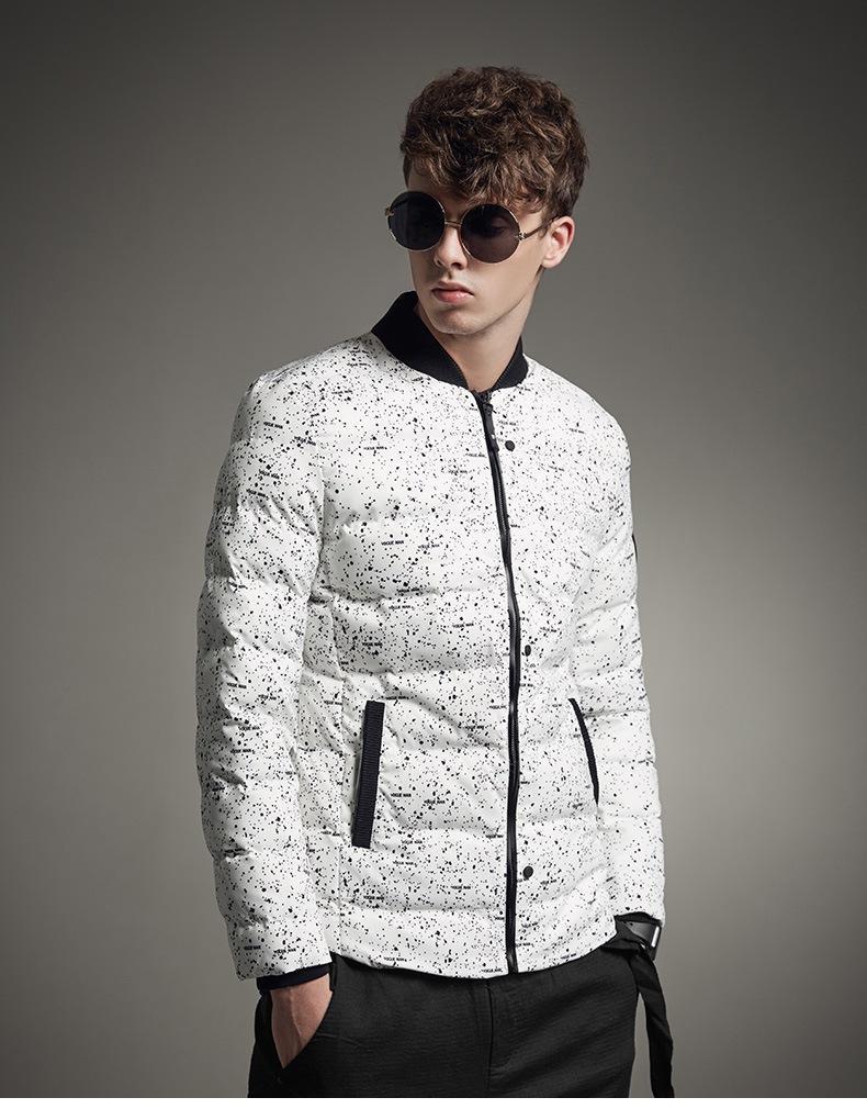 Пуховиковая куртка мужчины зимние куртки пальто белый черный теплый пуховик всесторонние мужские густые парку плюс размер