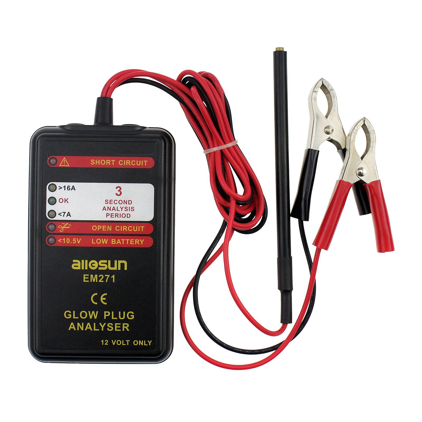 Automotive Diesel Engine Glow Plug Diagnostic Tool 12 V Electrical Plug Analyzer Car Failure Diagnostic Tool All Sun model EM271